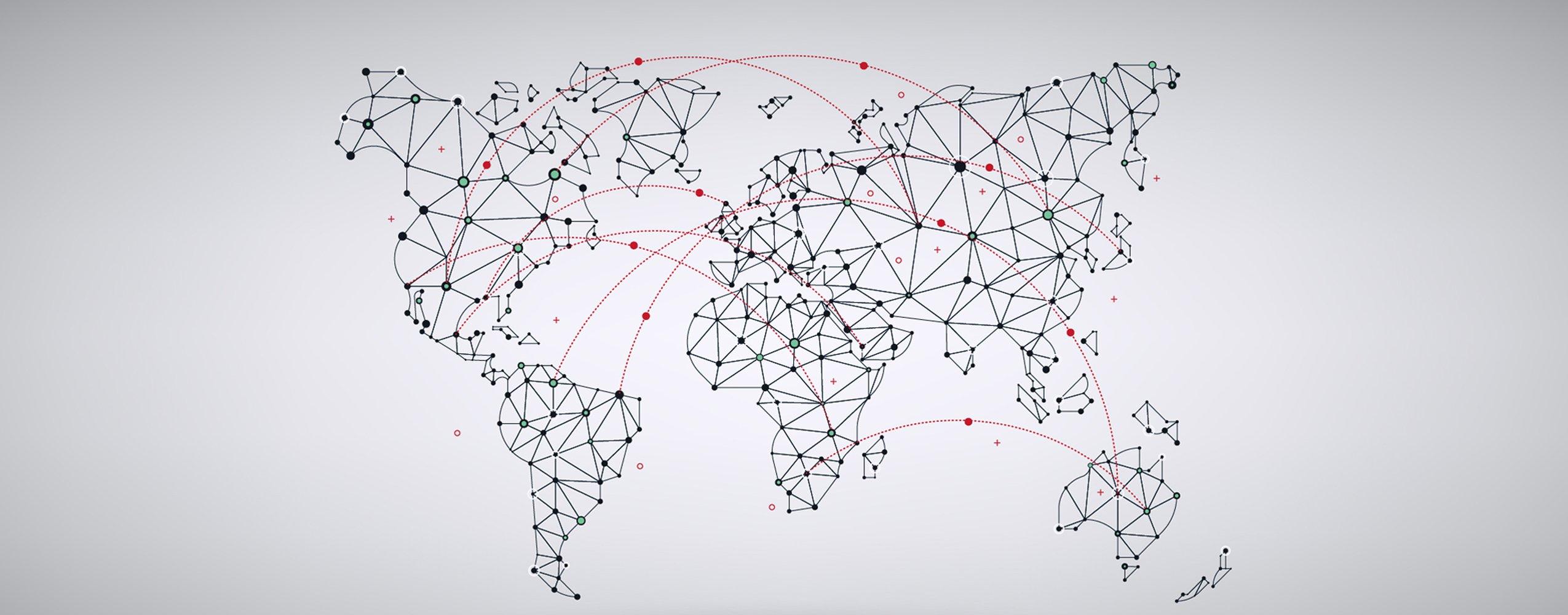 Internationale weltweite Verbindungen